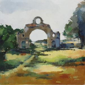 Cisza, jesień - Malwina Cieślik (2019), obraz olejny na płótnie