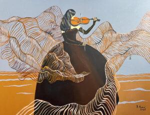 Powiew I - Agata Padol (2020), obraz akrylowy na płótnie