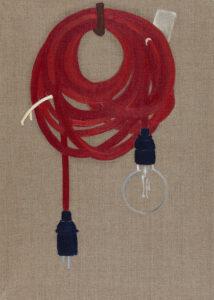 Żarówka - Bettina Bereś (2020), obraz olejny na płótnie