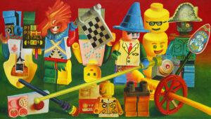 Multi kulti bio army Lego - Zbigniew Gorlak (2018), obraz akrylowy na płótnie