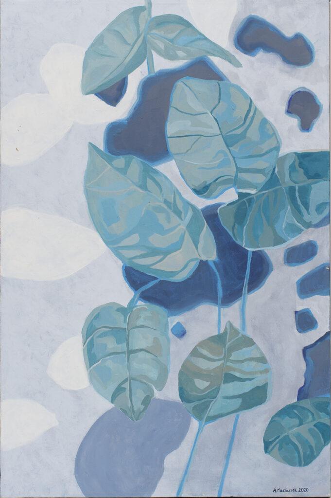 W wymiarze błękitu - Aleksandra Maciaszek (2020), obraz akrylowy na płótnie