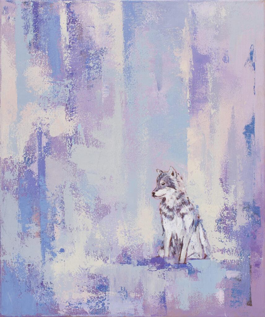 Powrót wilka - Paulina Lewandowska (2020), obraz akrylowy na płótnie
