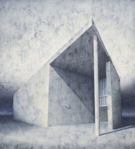 Element modernistyczny – kadr 21 - Joanna Pałys (2016), obraz akrylowy na płótnie