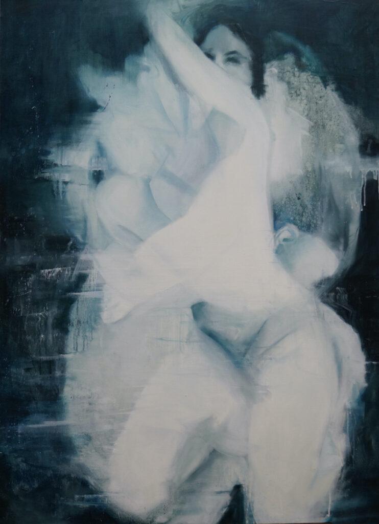 Blue is the warmest color - Kamila Nyckowska (2020), obraz olejny na płótnie