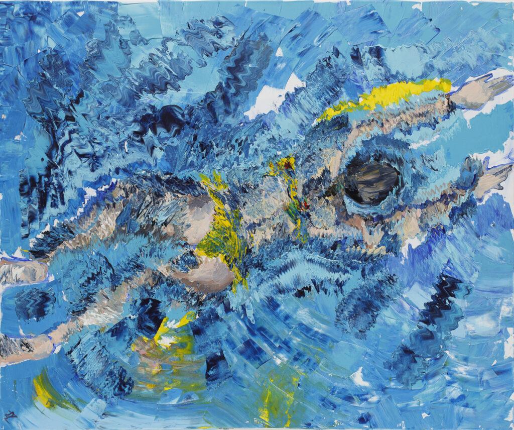 Żółte bikini - Agnieszka Słońska-Więcek (2020), obraz akrylowy na płótnie