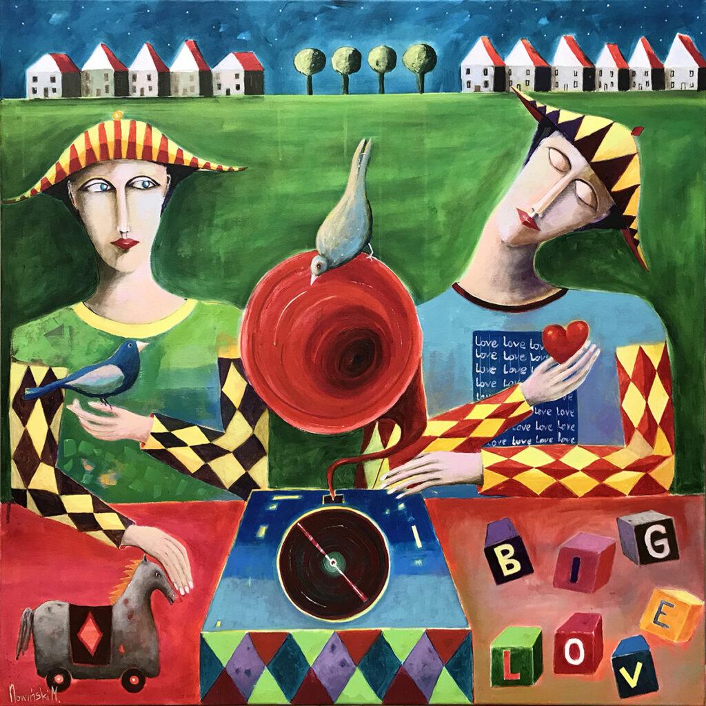 Melodia o miłości - Mirosław Nowiński (2020), obraz akrylowy na płótnie