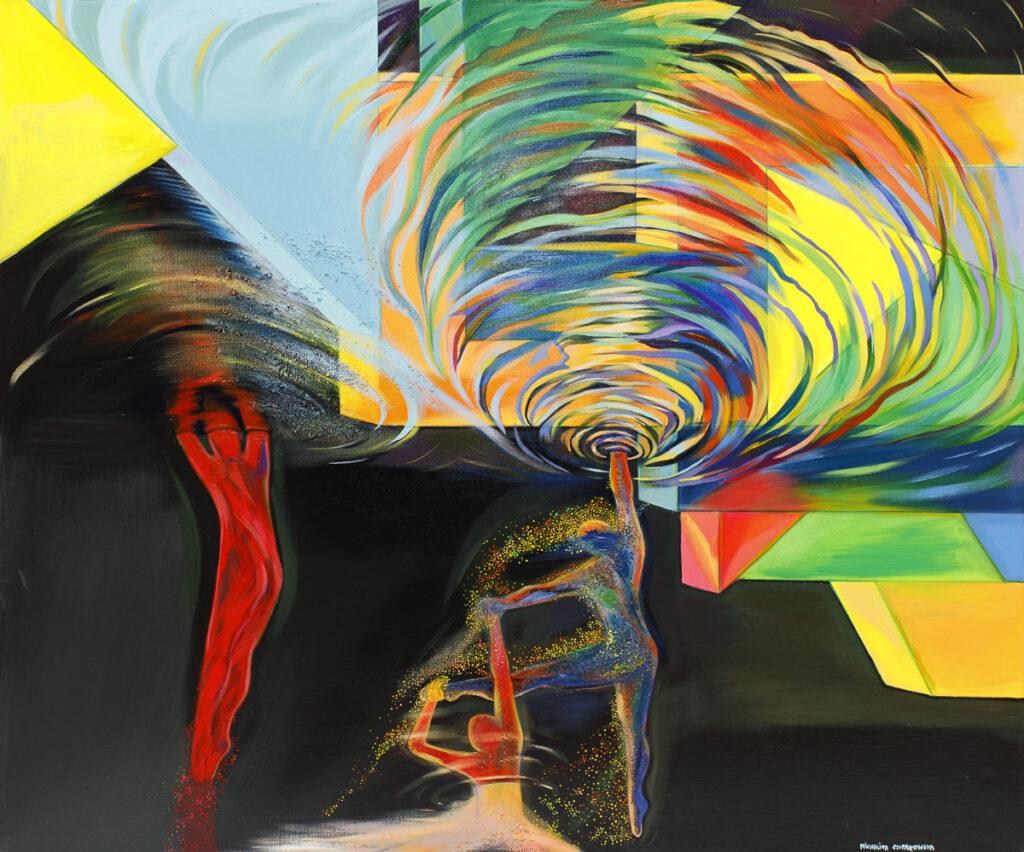 Wave - Michalina Czurakowska (2020), obraz akrylowy na płótnie