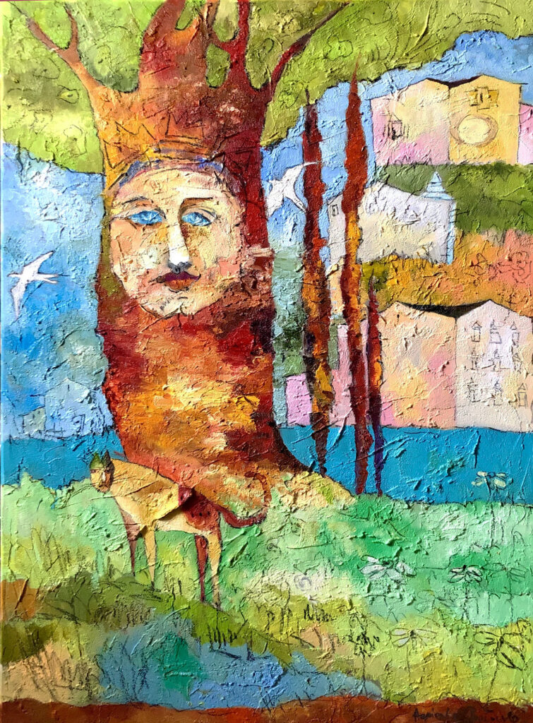 Maska - Agnieszka Pawłowska (2020), obraz olejny na płótnie