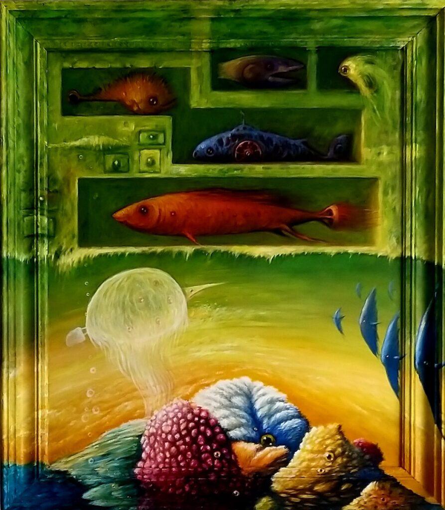 Aqua - Zbigniew Olszewski (2018), obraz olejny na płótnie