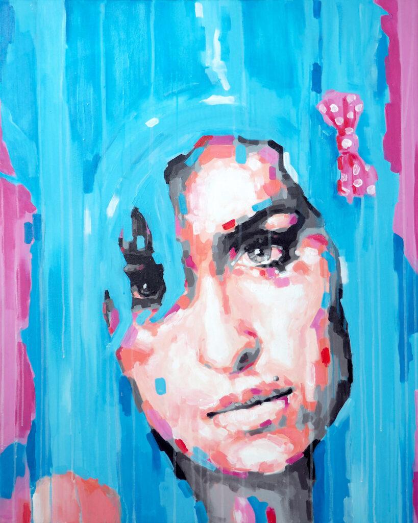 Amy - Krzysztof Logiński (2019), obraz akrylowy na płótnie