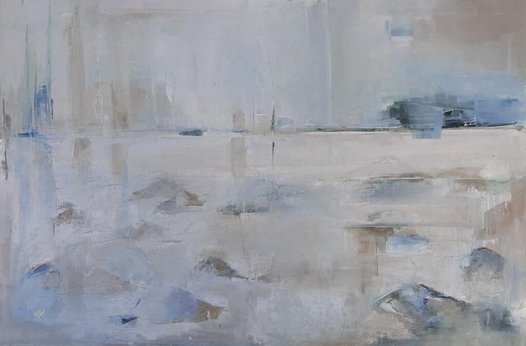 Kamień i woda - Malwina Cieślik (2019), obraz olejny na płótnie