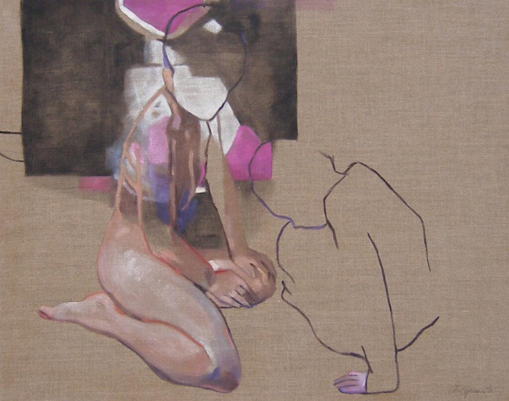 Paroksyton 14 - Marcin Dybowski (2020), obraz olejny na płótnie