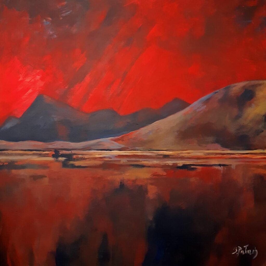 Pejzaż jak z Marsa - Beata Pałach (2020), obraz akrylowy na płótnie