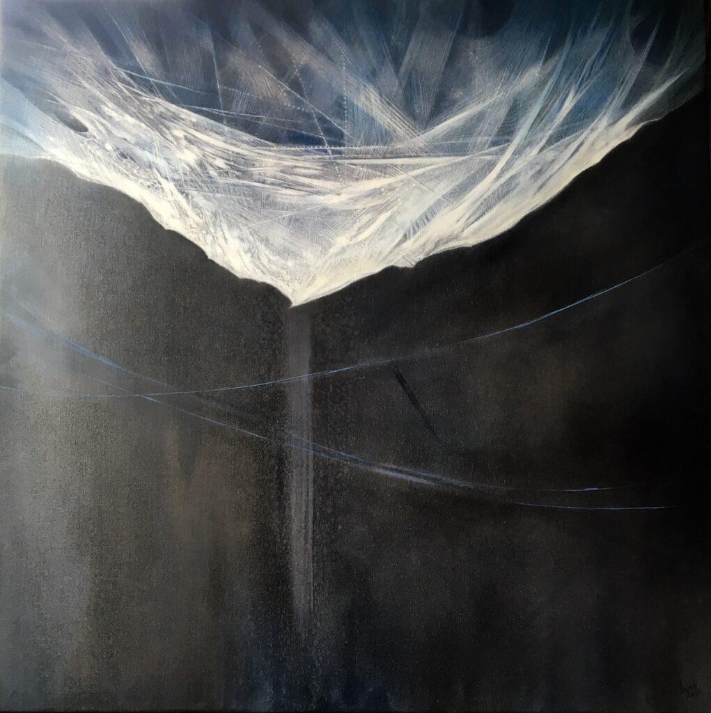 Kruchość. Oczekiwanie - Jolanta Haluch (2019), obraz olejny na płótnie