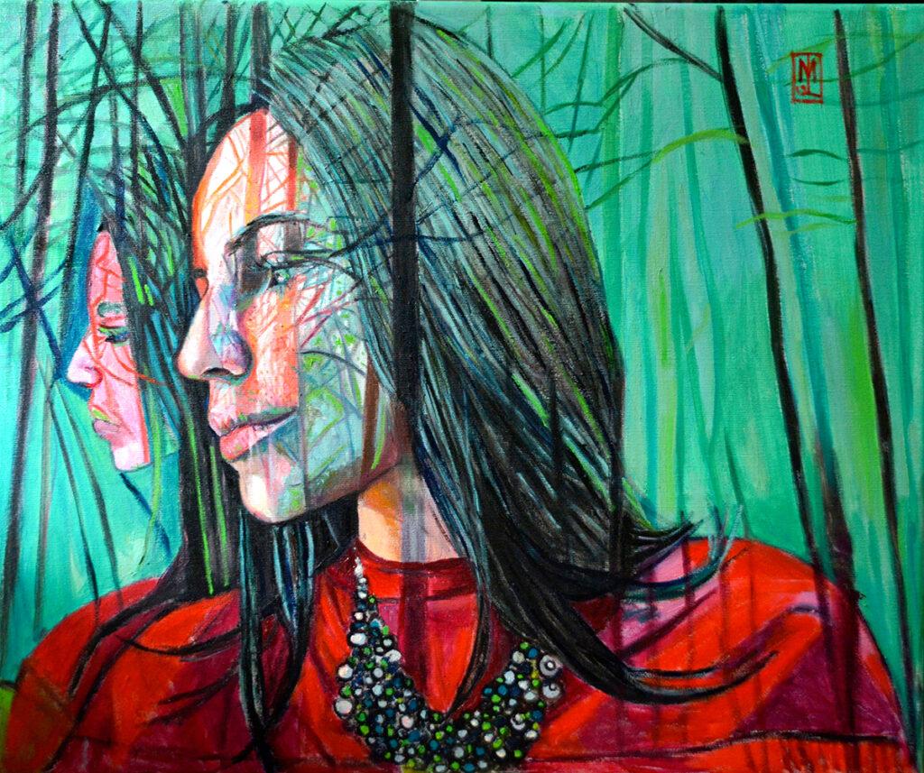 Las - Małgorzata Limon (2019), obraz olejny na płótnie