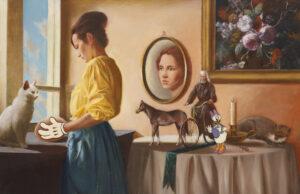 Daisy - Damian Nieroda (2020), obraz olejny na płótnie