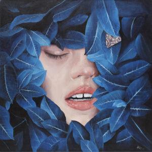 Sen - Barbara Kieca (2020), obraz akrylowy na płótnie