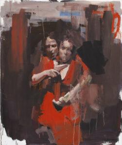Bez tytułu (266) - Marcin Ziółkowski (2019), obraz olejny na płótnie