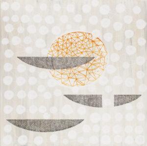 Z cyklu Naczynie IX - Marlena Wąsowska (2020), obraz akrylowy na płótnie