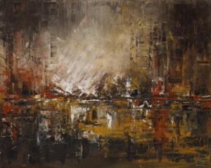O zmroku - Dorota Golińska (2019), obraz olejny na płótnie