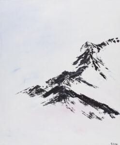 Mountain - Yuliya Stratovich (2020), obraz akrylowy na płótnie