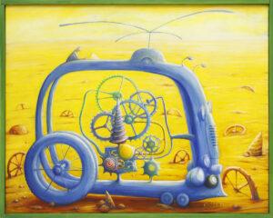 Blue cycle - Zbigniew Olszewski (2020), obraz olejny na płótnie