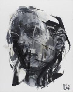 Bez tytułu - Izabela Lewkowicz (2020), obraz olejny na płótnie