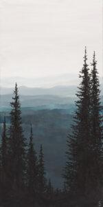Mglisty poranek - Sylwia Jóźwiak (2019), obraz akrylowy na płótnie