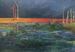 Strefa wody - Urszula Poncyljusz (2019), obraz akrylowy na płótnie