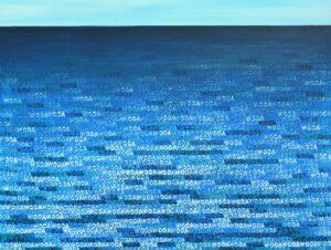 Woda - Andrzej Zujewicz (2019), obraz olejno-akrylowy na płótnie