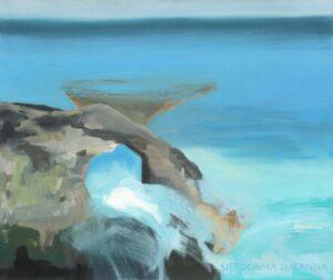 Oceaniczny Brzeg Las Cruces Teneryfa - Zuzanna Sierocińska (2020), obraz olejny na płótnie