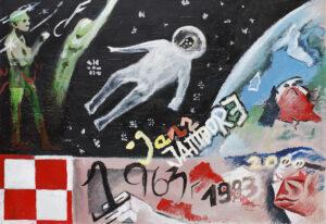 Jazz Jambore. Polska - Kacper Woźny (2020), obraz akrylowy na płótnie