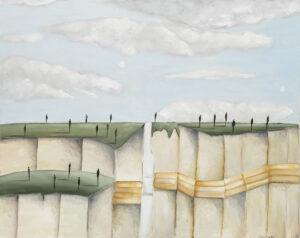 Bez tytułu - Filip Łoziński (2020), obraz akrylowy na płótnie