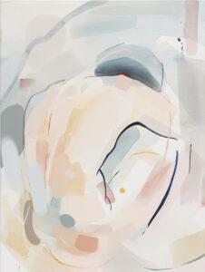 Dominująca linia - Natalia Fundowicz (2020), akryl, tusz akwarelowy, spray, akwarela, płótno