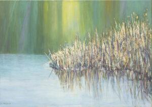 Sitowie - Urszula Poncyljusz (2020), obraz olejno-akrylowy na płótnie