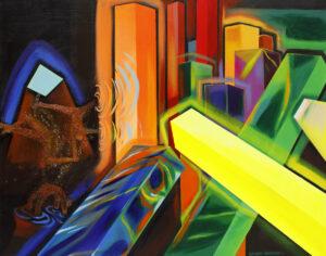 Yellow Blocks - Michalina Czurakowska (2020), obraz akrylowy na płótnie