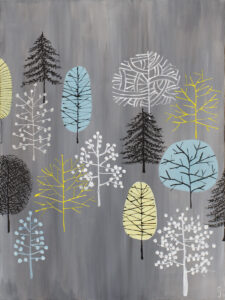 Las mieszany - Sylwia Jóźwiak (2020), obraz akrylowy na płótnie