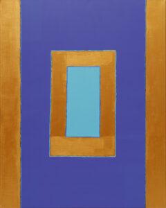 Dwa brzegi - Paulina Niemczyk (2020), obraz akrylowy na płótnie
