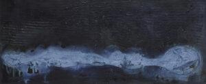 Czarny krajobraz - Magdalena Mędzkiewicz (2019), obraz akrylowy na płótnie