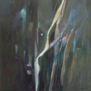 Natura - Barbara Bielecka-Woźniczko (2020), obraz akrylowo-olejny na płótnie