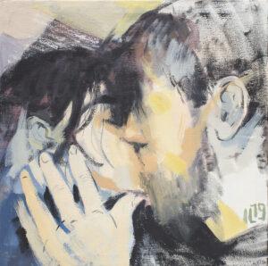 Kiss 03 - Izabela Lewkowicz (2019), obraz olejny na płótnie