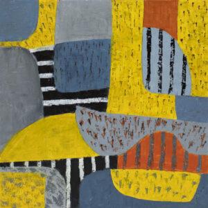 Żółte łąki - Paulina Leszczyńska (2019), obraz olejny na płótnie