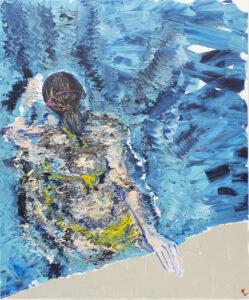 Żółte bikini - Agnieszka Słońska-Więcek (2019), obraz akrylowy na płótnie