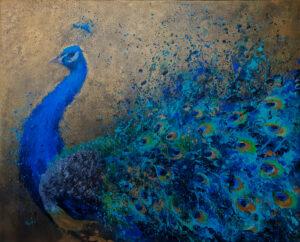 Uroczystym krokiem - Khrystyna Hladka (2021), obraz akrylowy na płótnie