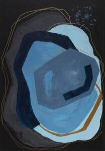 Charakter 43 (2021) - Diana Nowosad- abstrakcja niebiesko-czarna