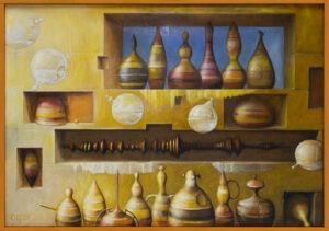 Perfumeria (2020) Zbigniew Olszewski - bajkowy obraz martwa natura