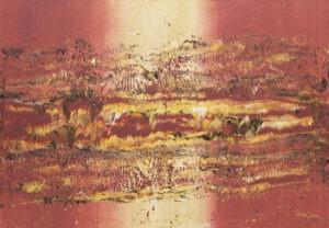 Coral structure (2020) - Marta Dunal - różowo-żółta abstrakcja