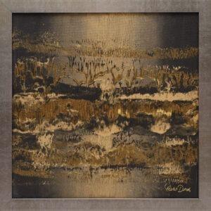 Gold dream (2021) - Marta Dunal - abstrakcja w odcieniach złotego i czarnego