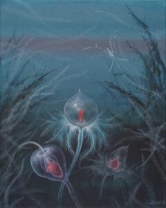 Kwiat - Anna Sołtysiak - kwiaty i rośliny na turkusowym tle