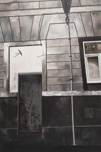Bez tytułu (2018) - Irena Skalik - architektura, szarość